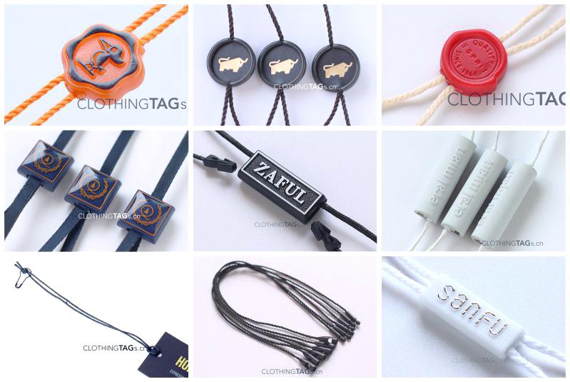 Hang tag string for clothing