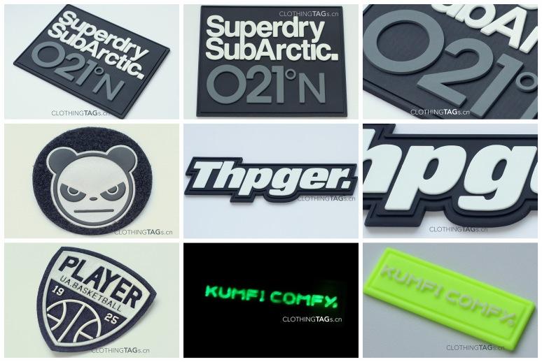 pvc rubber labels catalogue
