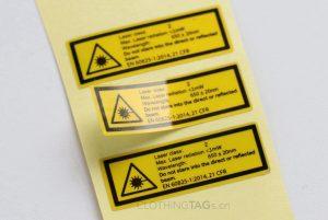 custom yellow reflective hard hat stickers with logo