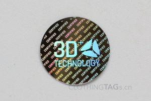 custom printed black holographic stickers label
