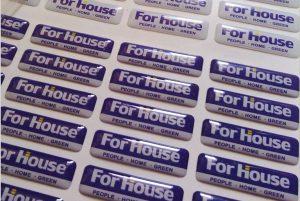 custom epoxy resin dome sticker with logo