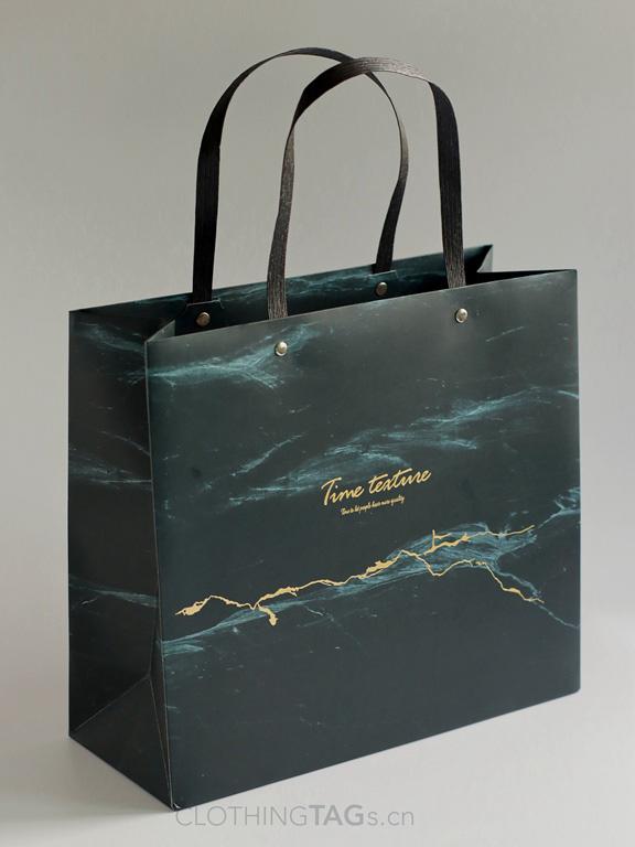 custom paper rope shopping paper bags add Fake rivet 578