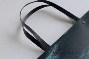 custom paper rope shopping paper bags add Fake rivet 580