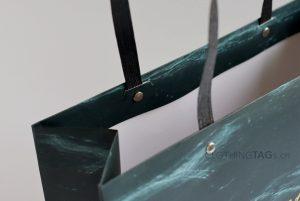 custom paper rope shopping paper bags add Fake rivet 581