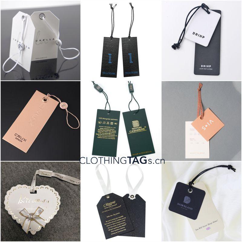 Custom hang tag with string