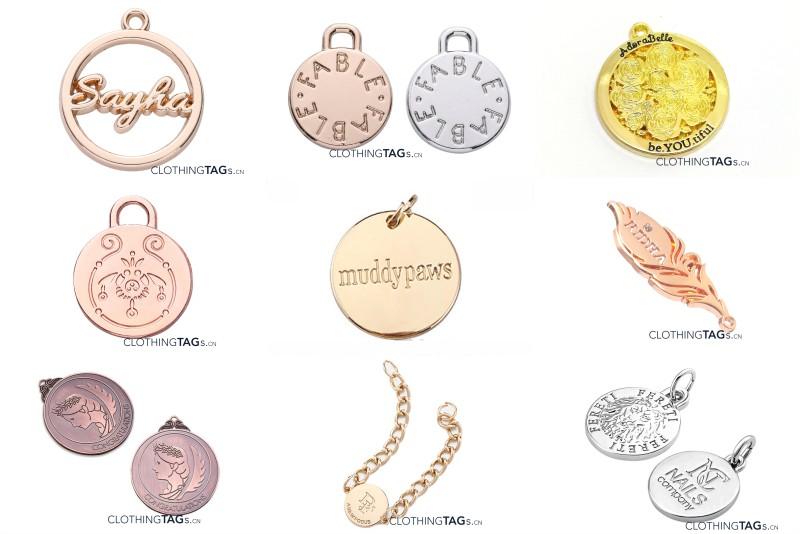 Metal jewelry tags