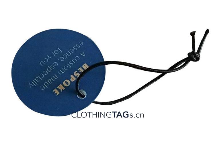 Elastic hang tag string