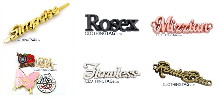 Custom Logo shape metal tags