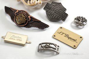 custom zinc alloy fashion free design metal labels for clothing