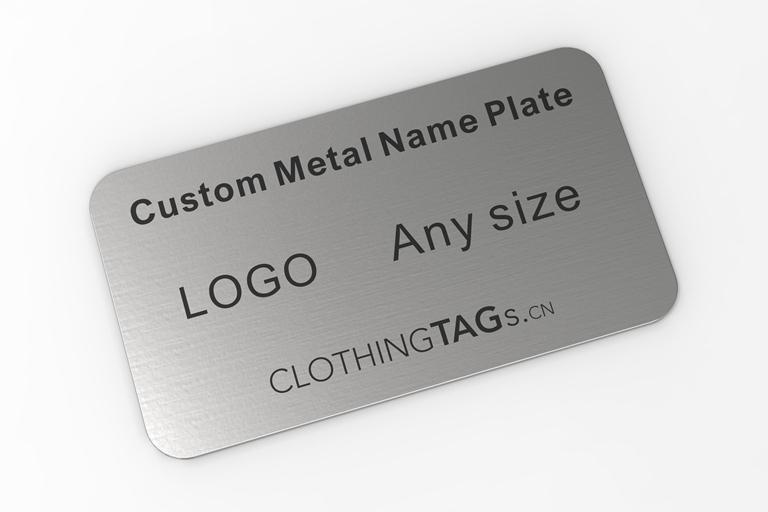 Custom metal name plates