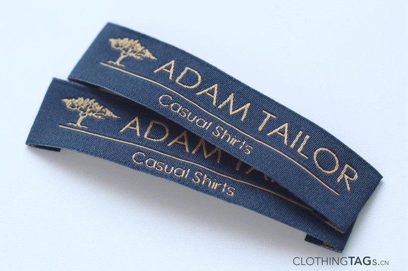 Make damask woven labels 1203