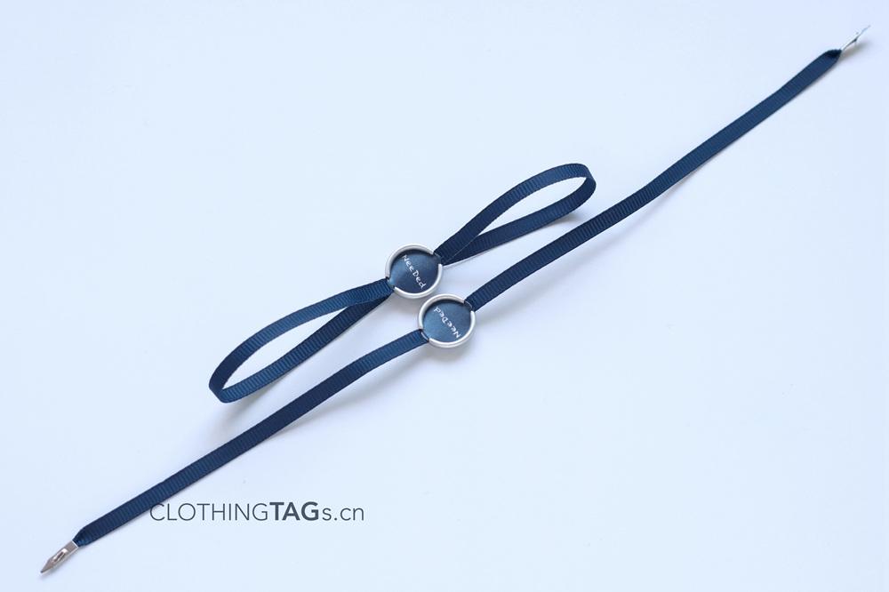 Satin hang tag string