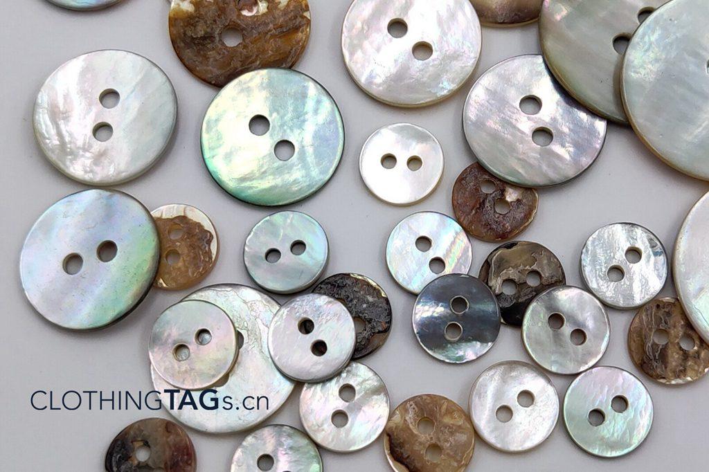 Pinctada martensii buttons